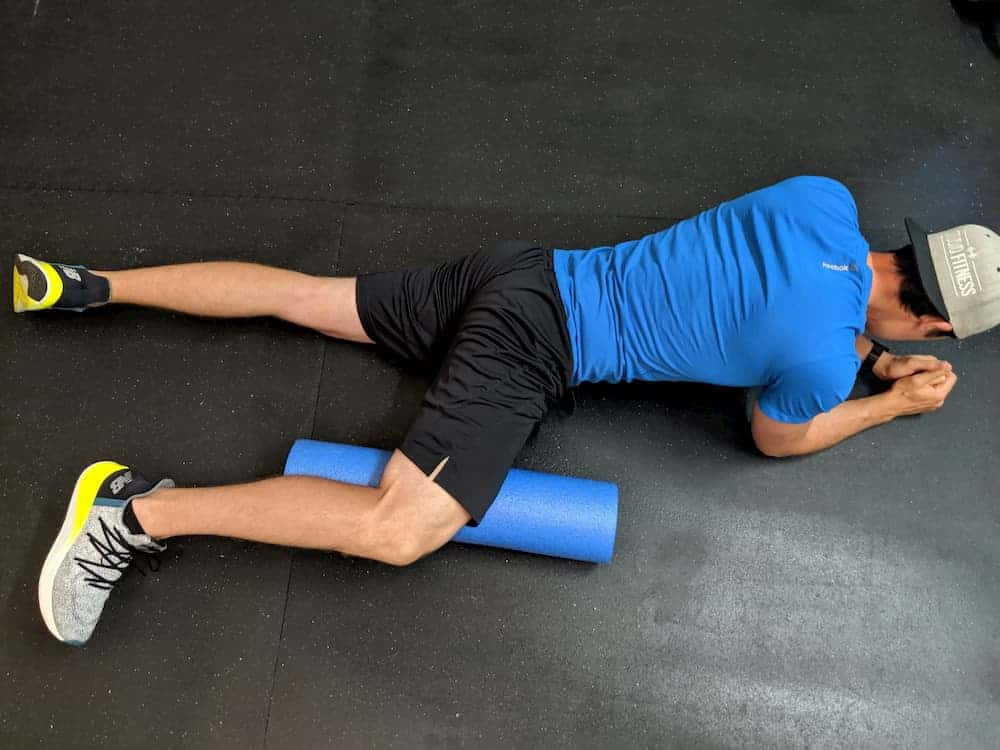 Foam Rolling your Hip Adductor Top View